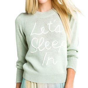NEW Wildfox Let's Sleep In Crewneck Lou Sweater Sm